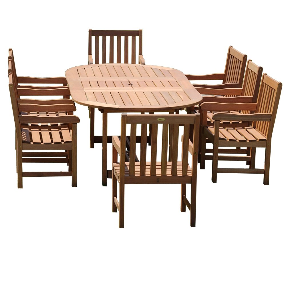 amazon com amazonia milano 9 piece grand extendable deluxe amazon com amazonia milano 9 piece grand extendable deluxe dining room furniture sets patio lawn garden