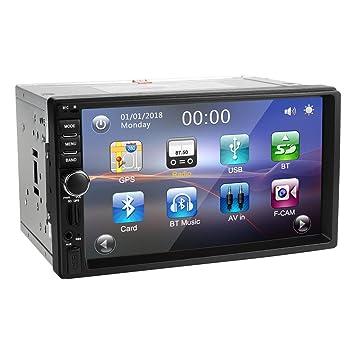 """Radio 2DIN GPS para coche, Amkle 7"""" pantalla táctil navegador con cámara de visión"""