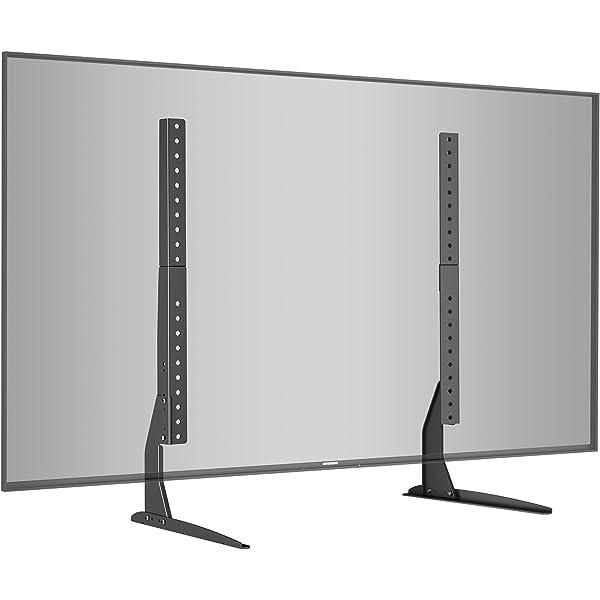 FITUEYES Soporte Giratorio de TV de 50 a 80 Pulgadas con 2 Estantes Soporte de Suelo para Televisión LCD LED OLED Plasma Plano Curvo Girar 90 Grados Altura Ajustable 111-130 cm MAX