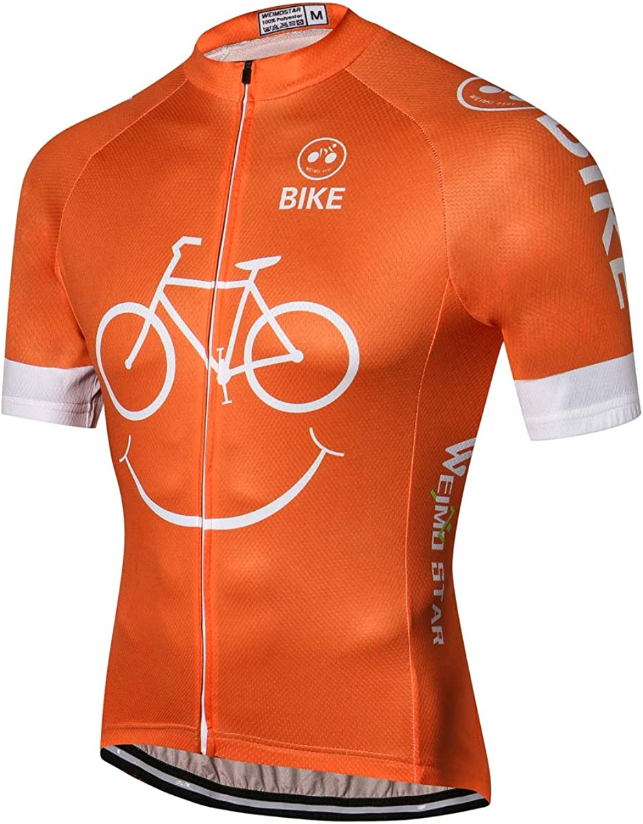 JPOJPO Mens Cycling Bike Jersey Short Sleeve Pro Team Breathable Quick-Dry Skull Tops
