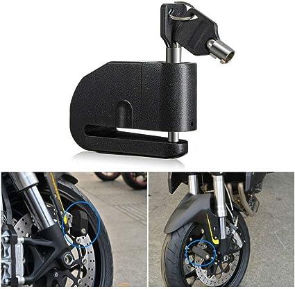 VISLONE Candado de Moto 120DB Candado de Disco con Alarma 7mm ...