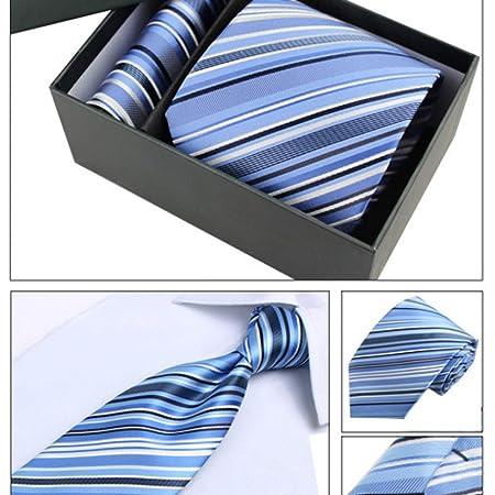 Hjyi Corbata de Vestir para Hombres, Corbata de Seda de Negocios ...