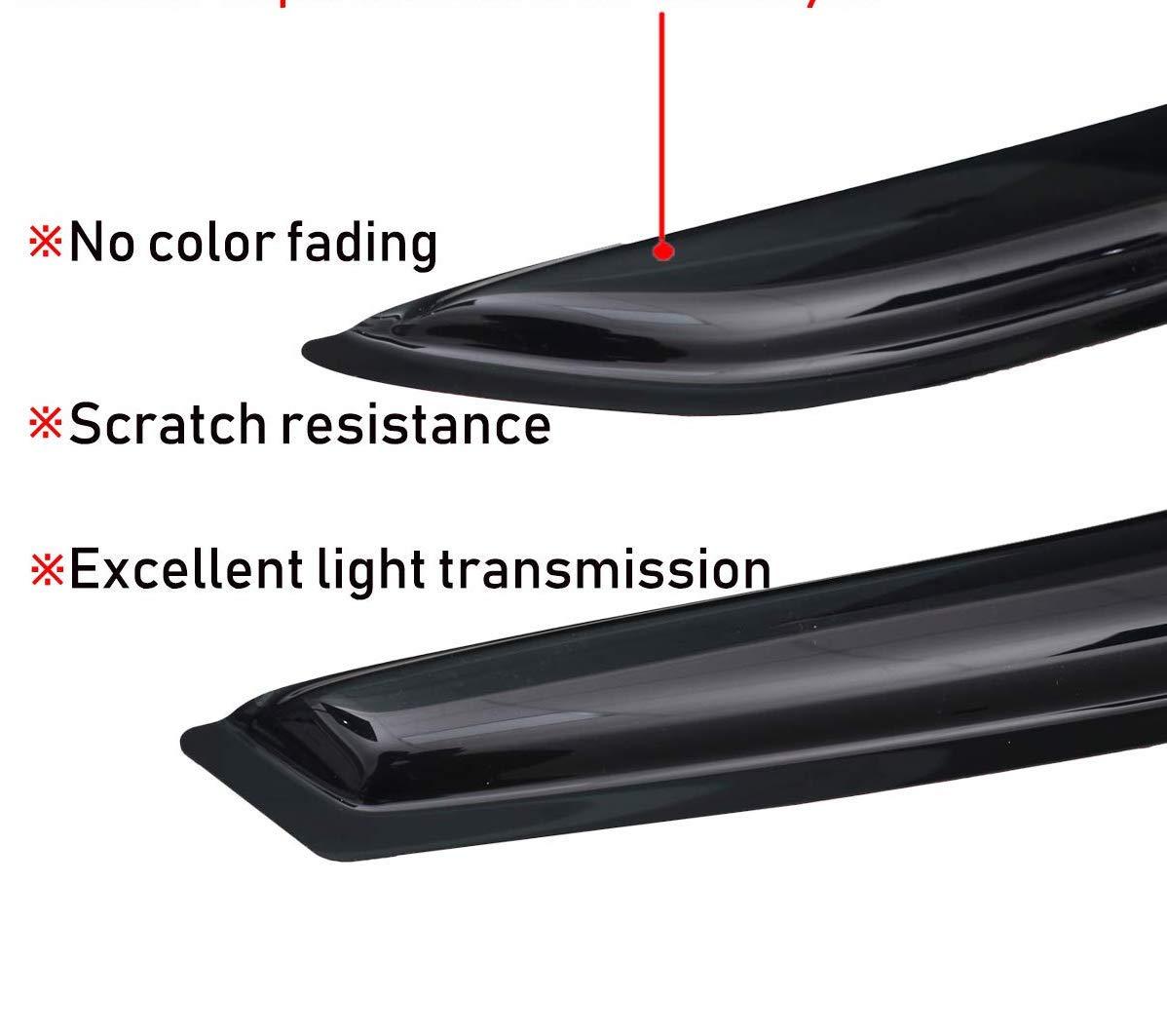 Mrp Set di 4 deflettori dAria compatibili con Toyota Auris E180 5 Porte Hatchback 2012 2013 2014 2015 2016 2017 2018 Vetri Laterali in Vetro Acrilico PMMA