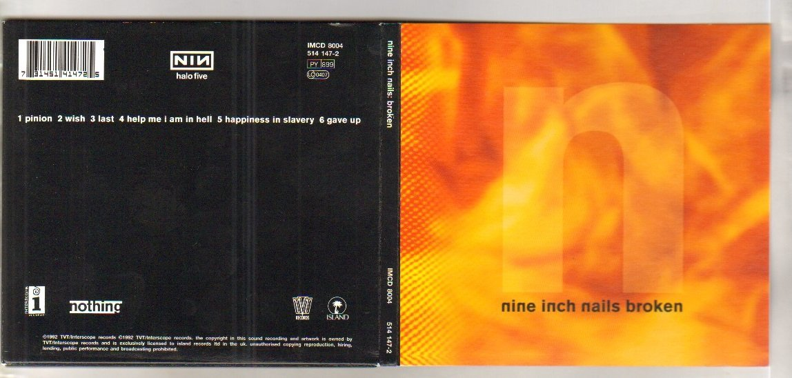 NINE INCH NAILS - BROKEN - CD single - CD (not vinyl): Amazon.co.uk ...