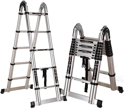 Escalera plegable multifunción Escalera elevadora de aluminio grueso Escalera ascendente Escalera doméstica telescópica Escalera escalada Escalera