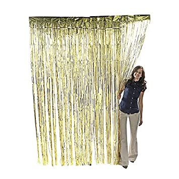 metallic gold foil fringe shiny curtains for party prom birthday event decorations 3