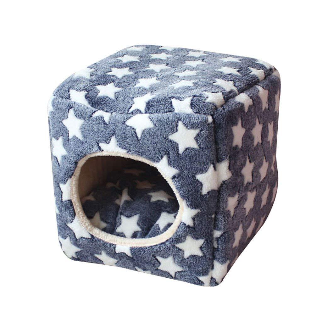 YHUJH Pet Mat Square Pet Bed Stuoia del Gatto Cat House Nest del Cane Pet Supplies Pet Bed Small And Medium Pet Sacco a Pelo