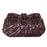 Flada Rhinestones Flower Clutches Bags for Girl's Wedding Party Evening Handbag Purse
