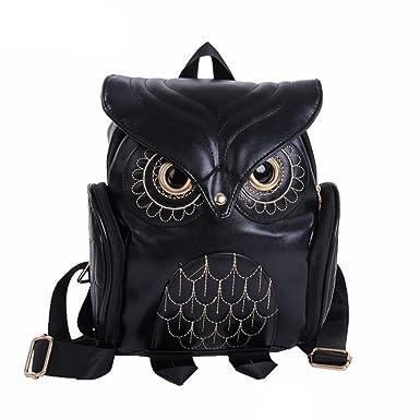 CocoMarket Fashion Cute Owl Backpack Women Cartoon School Bags For  Teenagers Girls (black) 98a7b93155e32