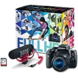 Canon EOS Rebel T6i Video Creator Kit with 18-55mm Lens, Rode VIDEOMIC GO and Sandisk 32GB SD Card Class 10 - Wi-Fi Enabled (Certified Refurbished)