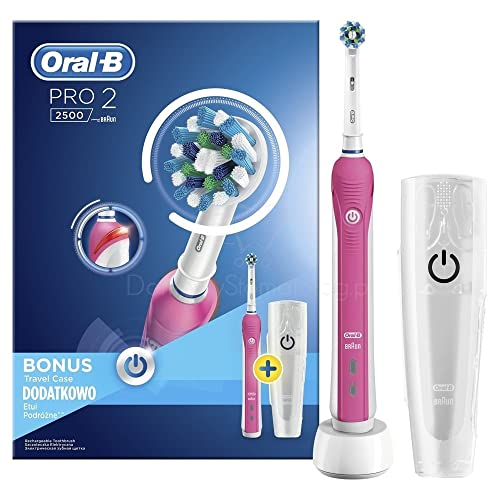 Oral-B Pro 2 2500 CrossAction - Cepillo de dientes eléctrico recargable por Braun,