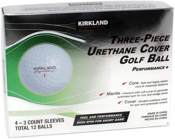 KLS 3-Piece Urethane Cover Golf Ball, 1-Dozen, White