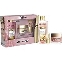 L'Oréal Paris Pack Age Perfect Golden Age incluye crema rosa fortificante día, tónico alisador y de regalo dos unidades…