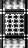 Custom Black Keffiyeh arabic shemagh military style seamless tubular bandana balaclava