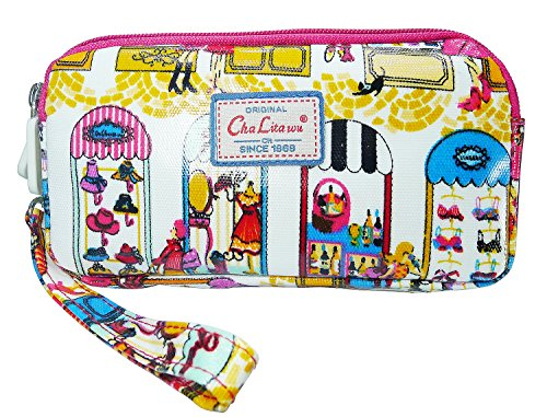 bdj-multi-function-printed-oil-coat-fabric-bag-wristlet-purse-wallet-pouch-shopping-window