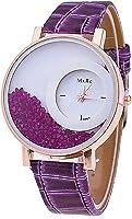 2016 Relogio Feminino Reloj Watch Women Femme Rhinestone Pu Leather Casual Quartz Watch Bracelet Wristwatch Women Purple