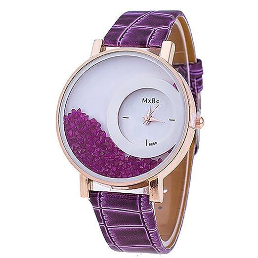 818a46a4205 Amazon.com  Relogio Feminino Reloj Watch Women Femme Rhinestone Pu ...