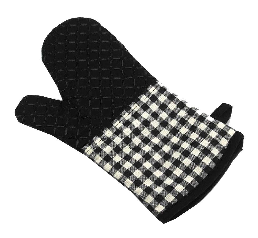 YKeen Non-Slip Perfect for Kitchen/Grilling Hot Surface Handler Silicone with Quilted Liner Baking Glove AS2 One Size