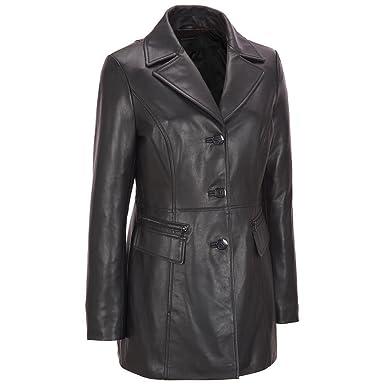 Wilsons Leather Womens Center Button Lamb Jacket W/ Zipper Detail ...