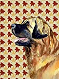Cheap Caroline's Treasures LH9123GF Leonberger Fall Leaves Portrait Flag, Small, Multicolor