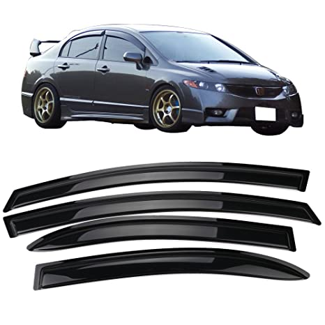 Amazon.com  Window Visor Fits 2006-2011 Honda Civic 4Dr  42fd89cfe3c