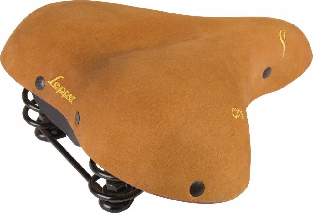 Lepper City Lounger Kern Leder Nubuk Sattel Natur Fahrrad Retro Vintage Komfort, 610161