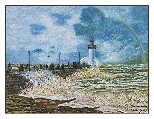 Fine Art Note Card: The Jetty at Le Havre (Item # - Jetty For Sale