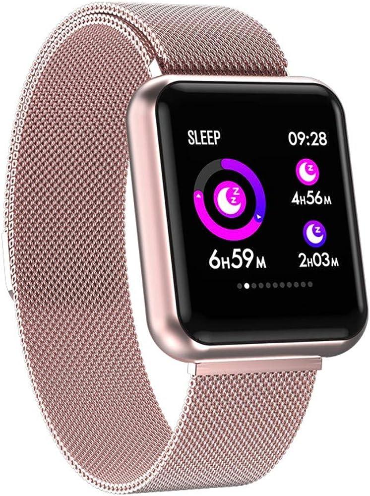 HNPYYIntelligent Waterproof Sports Heart Rate Blood Pressure Bluetooth Watchimpermeable Reloj Deportivo Inteligente Multifuncional GPS Hombre Mujer Al Aire Libre Podómetro Android iOS Niño B