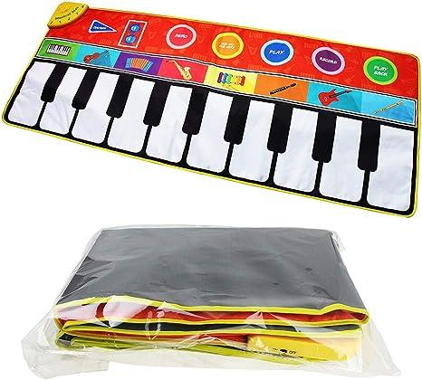 Rangebow Piano Musical Mat, Kids Touch Play Instrumentos de música electrónicos Teclado de Piano Playmat para Cantar Canciones Baile Divertido ...