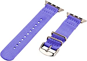 Clockwork Synergy - Watch Bands for Apple Watch (38mm Lavender Classic NATO SS)