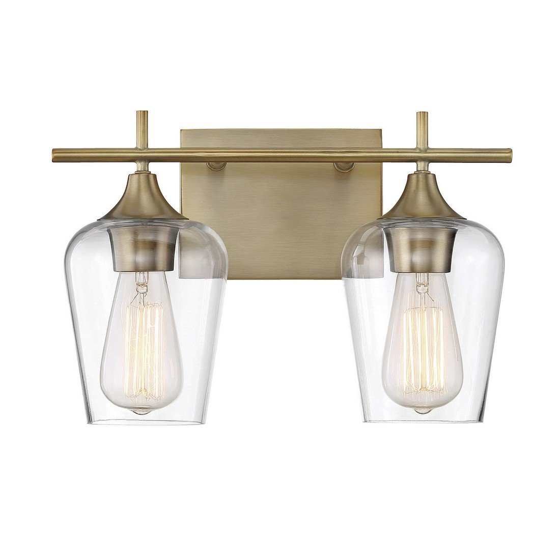 Savoy House 8-4030-2-322 Octave Two Light Bath Bar in Warm Brass by Savoy House