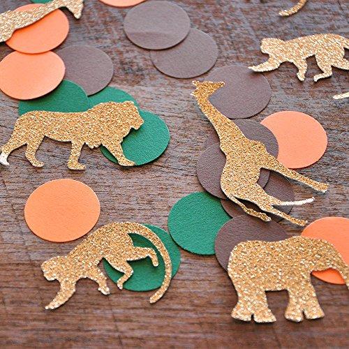 Jungle Baby Shower Decorations. Jungle Confetti Mix. 2 Packs (50CT (Handmade Safari Jungle)