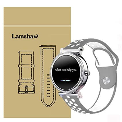 Lamshaw for Michael Kors Access Sofie Band, Quick Release Silicone Soft Band with Ventilation Holes Replacement Straps for MK Access Sofie Smartwatch ...