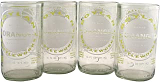 product image for Tumblers Drinking Glasses Made From Recycled Soda Bottles 12 Oz - set of 4 (Clear)
