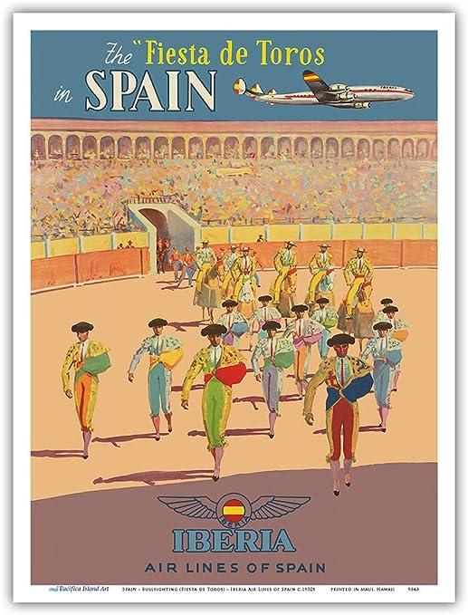 Pacifica Island Art - España - Fiesta de Toros - Iberia - Póster ...