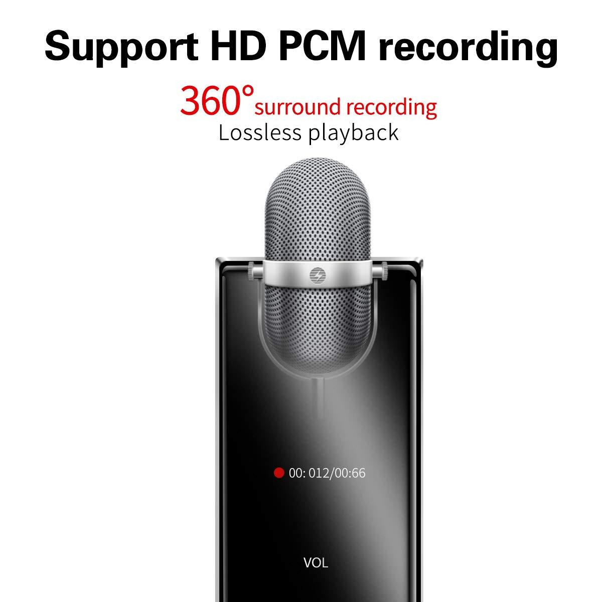 MYMAHDI MP3 Player, Bluetooth 16GB Lossless,FM Radio/Records one Key, Max up to 128GB, Black