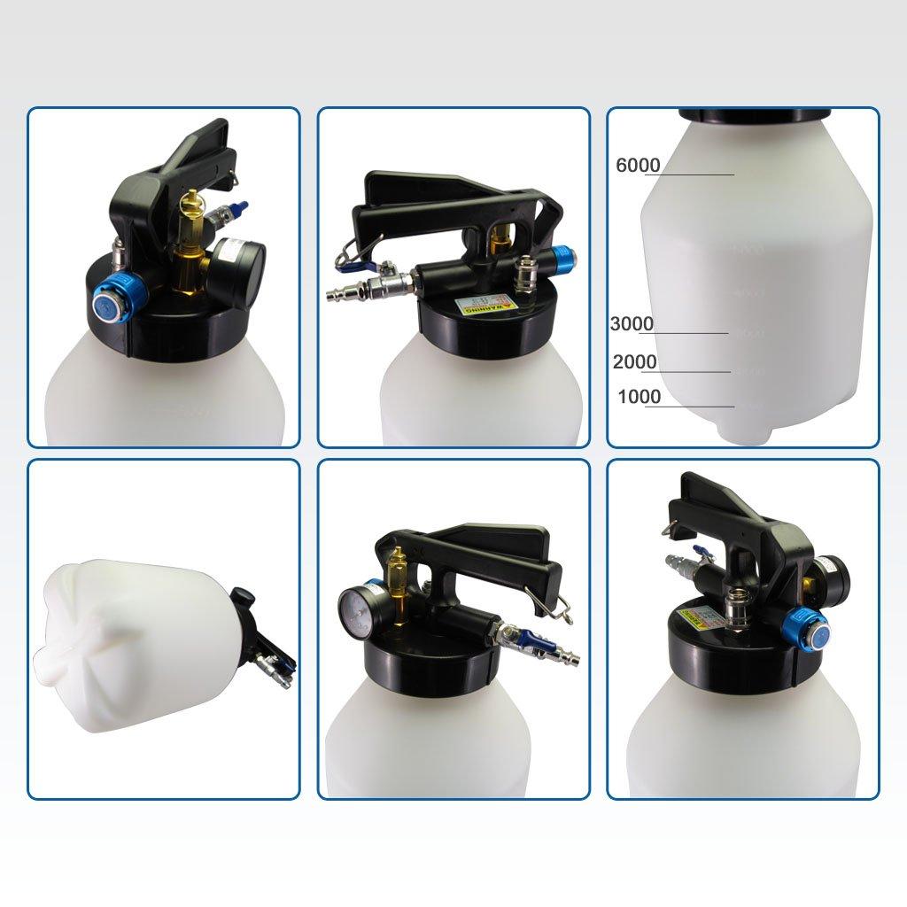 Ajuste Herramientas 6L dos manera neumático Motor Gear ATF aceite y líquido Extractor con 5pcs manguera Conjunto: Amazon.es: Bricolaje y herramientas