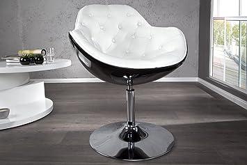 Lounge sessel schwarz weiß  Cocktail Lounge Sessel Speedchair schwarz/weiss, Lederoptik gesteppt ...