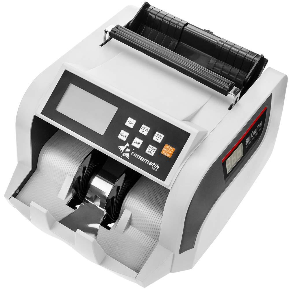 PrimeMatik - Contador y totalizador del Valor de los Billetes con Detector de Billetes Falsos IR MG MT UV: Amazon.es: Electrónica