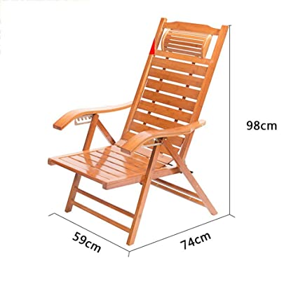 Amazon.com: QTQZ Folding Bed Chair Balcony Bamboo Rocking Chair ...