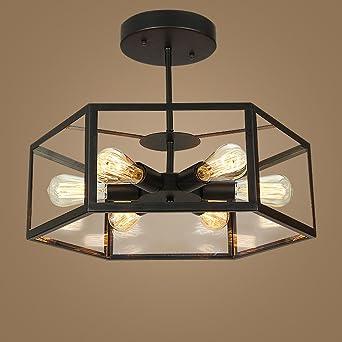 Retro Iluminación de techo Vintage hierro lámpara de techo ...