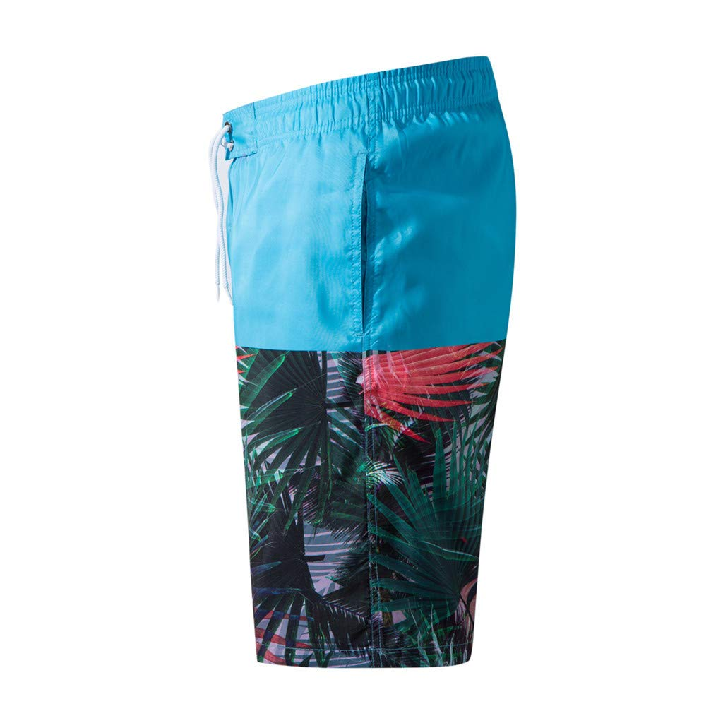 Colmkley Mens Elastic Waist Bandages Casual Quick Dry Sport Beach Surfing Shorts