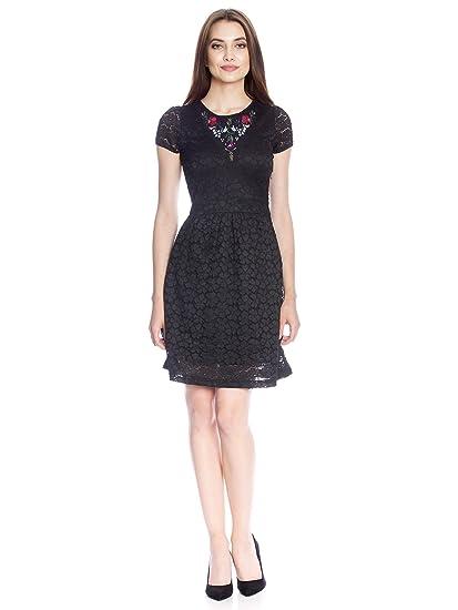 wholesale dealer ca4b8 18955 Vive Maria Women's Bohemian Lace Dress Black, Medium: Amazon ...