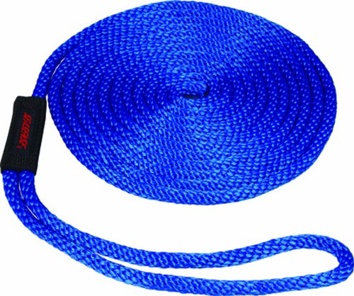 1//2-Inch X 15-Foot Blue Unified Marine Inc SeaSense Solid Braid MFP Dock Line with Chafe Guard 50013114