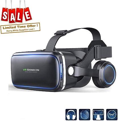 e909b2dca700c Headset Realidade Virtual, VR Headset VR SHINECON para TV, Filmes e Video  Games -