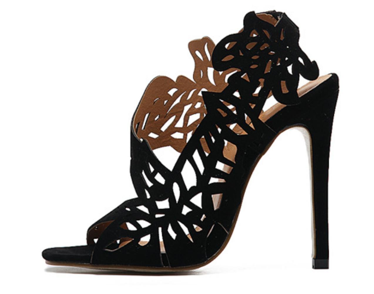 Frauen Stiletto High-Heels Ferse Hohle Mode Breathable High-Heels Stiletto Sandalen Klassische Sommer Casual Single Schuhe - ef1347