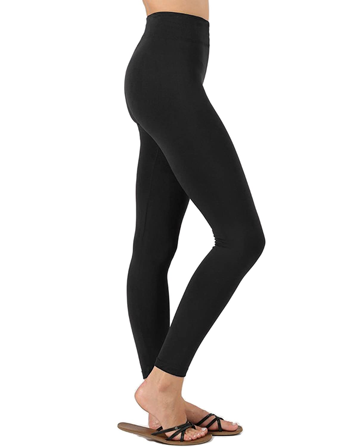 KOGMO Womens Premium Warm Fleece Lined Leggings with High Waist (Multi Colors)