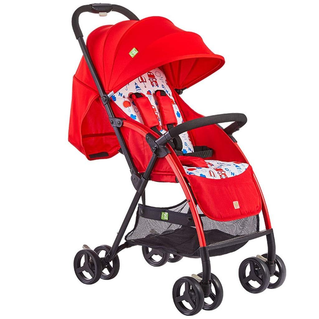 ベビーカーは取り外し可能で軽くそして携帯用赤ん坊のカートを折ること容易なリクライニング綿パッドの上に座ることができます   B07NZZPBQQ