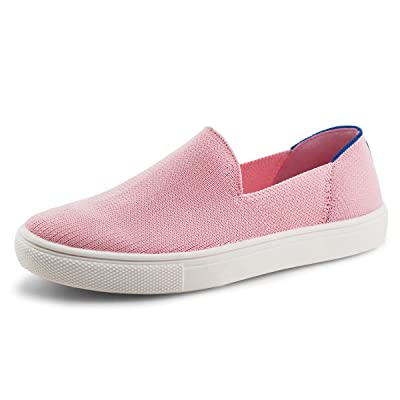 JABASIC Women Knit Slip On Sneakers Comfortable Walking Loafers | Loafers & Slip-Ons