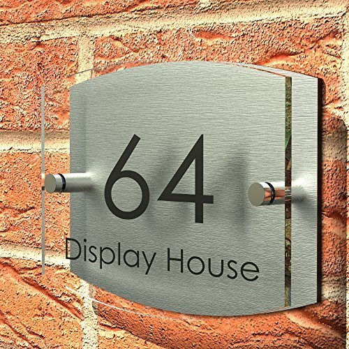 Stunning Displaypro House Number Sign Plaque Thick Glass Effect Acrylic  Amazoncouk Diy U Tools With Door Number Plaques Acrylic.
